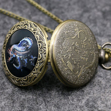 Load image into Gallery viewer, Cool Dragon Design Pocket Watch, Men Boy Pocket Watch, Gift High Quality Fashion Present for Men