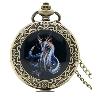 Cool Dragon Design Pocket Watch, Men Boy Pocket Watch, Gift High Quality Fashion Present for Men