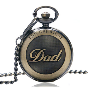 Men's Pocket Watch, Antique High Quality Mens Bronze Big Size DAD Pocket Watch, Gifts for Men