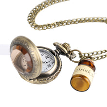 Load image into Gallery viewer, Men's Pocket Watch, Vintage Glass Pocket Watch Necklace, Gift for Men