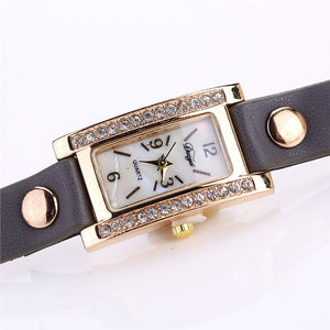 Duoya Watches Fashion Luxury Watch Women Bracelet Watch Square Diamond