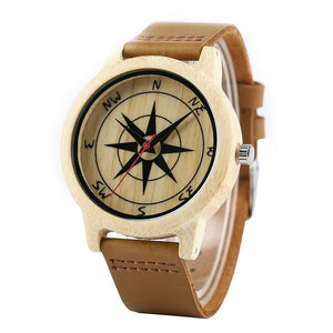 Men Watches Bamboo Handmade Wood Watches Wristwatch Bracelet-Brown