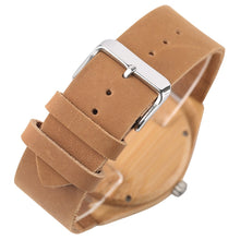 Load image into Gallery viewer, Bamboo Watch Mens Minimalist Wrist Watch Quartz Watches-Brown