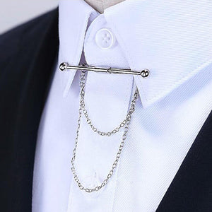 Hot Mens Tie Clips Wedding Party Gift Tie Clip Clasp Fashion Cufflinks Brooch Collar Clip Watch