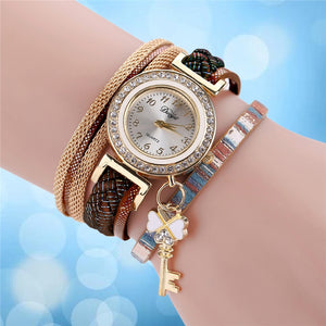 Duoya Luxury Women Watches Diamonds Padlocks Bracelet Watches Ladies Dress