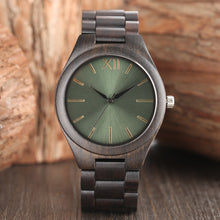 Load image into Gallery viewer, Nature Wood Watch Men Watches Quartz Fashion Casual Women Watches Bamboo Wristwatch-Green