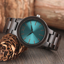 Load image into Gallery viewer, Wood Watch Men Creative Watches Fashion Casual Women Watches-Blue