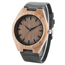 Load image into Gallery viewer, Men Watches Simple Minimalist Wood Wristwatch Male Bamboo Wristwatch-Brown