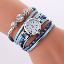 Load image into Gallery viewer, Fashion Luxury Rhinestone Leather Bracelet Watch Women
