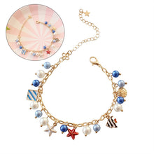 Load image into Gallery viewer, Fairy Tale Jewelry Bracelet Shell Mermaid Pearl Pendant Bracelet for Women Girl