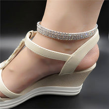 Load image into Gallery viewer, Sexy Anklets Shiny  Stretch Tennis Ankle Bracelet Decorative Three Tier Elastic Bracelet Women Girls