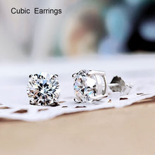 Load image into Gallery viewer, Luxury 925 Sterling Silver  Pure Silver Cubic Earrings Girls' Accessories Cubic Earrings