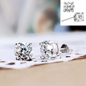 Luxury 925 Sterling Silver  Pure Silver Cubic Earrings Girls' Accessories Cubic Earrings