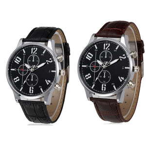 Fashion Bussiness  Black or Brown Men Watches