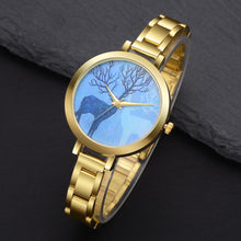Load image into Gallery viewer, Golden Luxury Deer Pattern Watches For Women