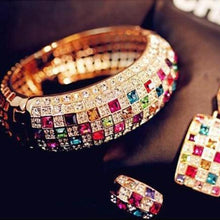 Load image into Gallery viewer, 2015 Luxury Women Colourful Rhinestone Crystal Finger Dazzling Ring Jewelry HOAU