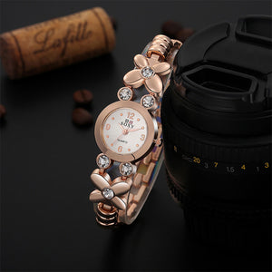 SOXY Brand Women New Fashion Rose Gold Quartz Watch Luxury Rhinestone Bracelet Watches
