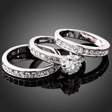 Load image into Gallery viewer, Luxury Women's Ring Sets 3 Layers Rings Group Rings Zircon Wedding Rings Fashion Accessories
