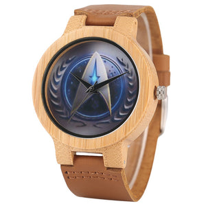 Wrist Watch Men Handmade Nature Watches Bamboo Wristwatch Bracelet-Brown