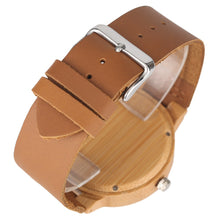 Load image into Gallery viewer, Wrist Watch Men Handmade Nature Watches Bamboo Wristwatch Bracelet-Brown