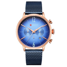Load image into Gallery viewer, Curren Men Watches Fashion Casual Style Leather Quartz Male Sport Wristwatches Relogio Masculino