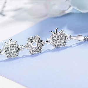 Lovely Silver Plated Bracelets  Adjustable Bracelet for Women Girls  Wedding Party Jewellery