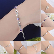 Load image into Gallery viewer, Lovely Silver Plated Bracelets  Adjustable Bracelet for Women Girls  Wedding Party Jewellery