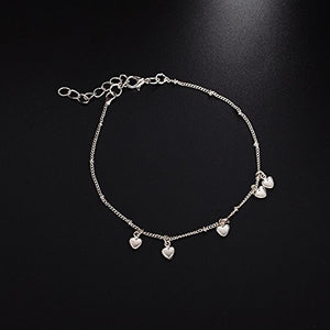 Lovely Love Shape Pendant Bracelets Simple Design Fashion Adjustable Bracelet for Women Girls