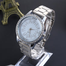 Load image into Gallery viewer, Luxury Women Watches Gold Watch Dress Rhinestone Quartz Watch Women Stainless Steel Watches