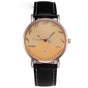Quartz Men Watches Business Leather  Luxury Simple