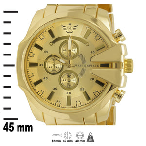Gold V-cut Executive Classic Mens Watch