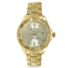 Load image into Gallery viewer, Gold Date Window Matte Bezel Executive Mens Watch