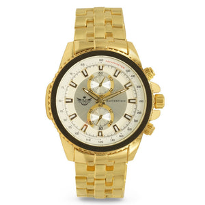 Gold 2-Subdial Classic Mens Executive Watch