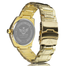 Load image into Gallery viewer, Gold Semicircular cut Bezel Executive Classic Mens Watch