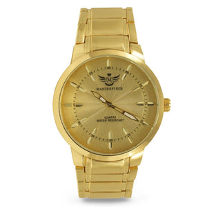 Gold Leaf Index Dial Executive Classic Mens Watch