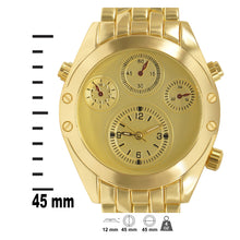 Load image into Gallery viewer, Gold Glossy 4-subdial Executive Classic Mens Watch