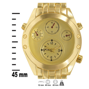 Gold Glossy 4-subdial Executive Classic Mens Watch