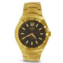 Load image into Gallery viewer, Gold Matte Accented Bezel Executive Mens Watch