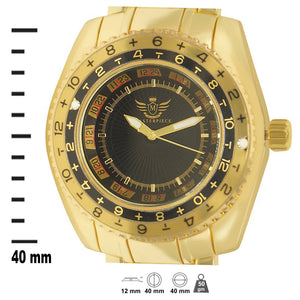 Gold Racer Dial Classic Mens Executive Style Watch