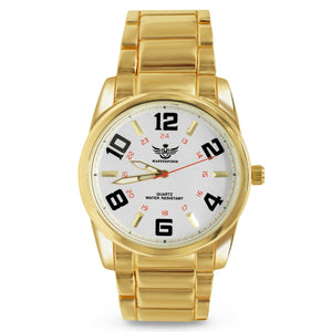 Big Arabic Numeral Gold Executive Classic Mens Watch