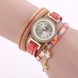 The Sleek Stylish and Chic Knit Bracelet Watch Women and Girls Decorative