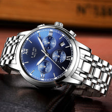 Load image into Gallery viewer, Stainless Steel Men Watches 3ATM Water-resistant Quartz Watch Luminous Sport