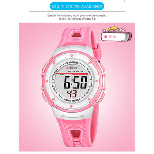 Wrist Watches LED Digital Stopwatch Alarm Luminous Water Resistant Girl Boy Watch