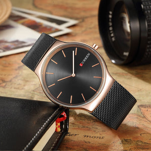 Stainless Steel Men Watches Quartz 3ATM Water-resistant Casual Man Wristwatch Relogio Musculino