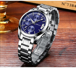 Quartz Clock Mens Full Steel Army Military Sport Wrist Watch Relogio Masculino