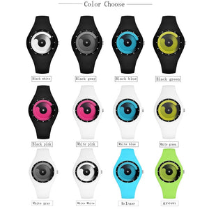 Candy Color Men Watches Female Silicone Waterproof Sport Stylish Wristwatches Luxury