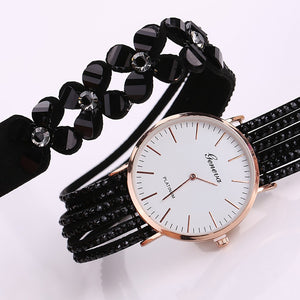 Women Casual Elegant Quartz Bracelet ladies Wrist Watch, Crystal Diamond