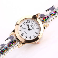 Load image into Gallery viewer, Floral Watches, Women Flower Popular Quartz Wrist Watch, Luxury Bracelet Watch