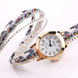 Floral Watches, Women Flower Popular Quartz Wrist Watch, Luxury Bracelet Watch