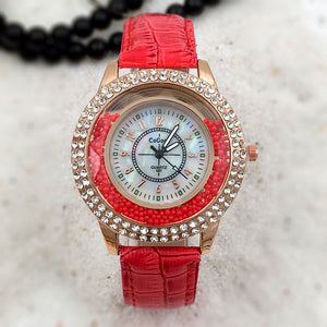 Women Fashion Luxury Leisure Set Auger Quartz Watch